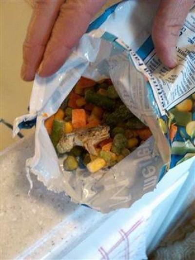 Frog in your frozen veggies?