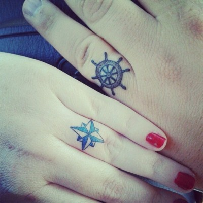 Cool wedding ring tattoos