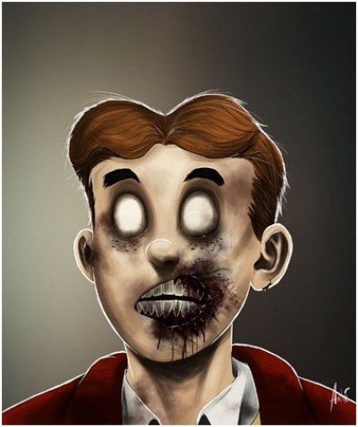 Zombified Faces Of Famous Cartoons