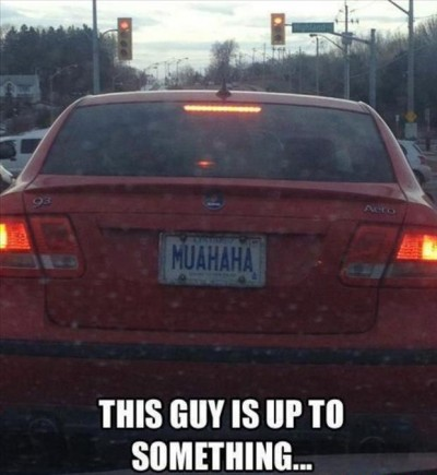 Hilarious license plate fails