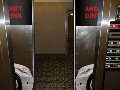 Creative elevator ads