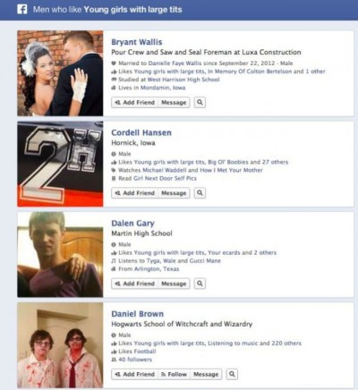 Funny Facebook graph searches