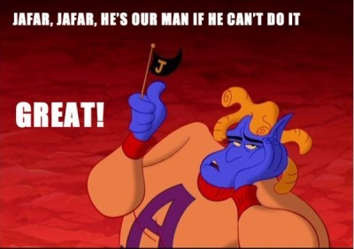 Funny quotes from genie in Aladdin