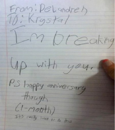Worst Break Up Letters