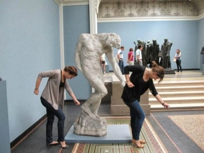 People Caught Having Fun At the Museum