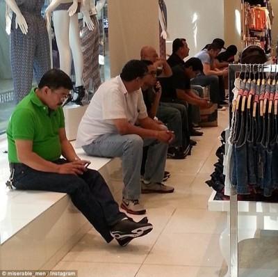 Funny when women take their men shopping pics