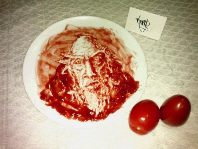 Amazing ketchup art