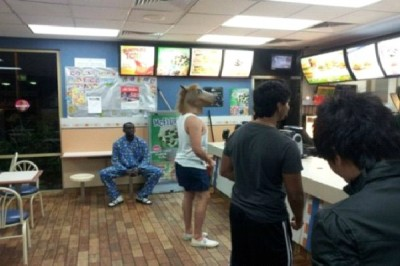 Strange People At McDonalds