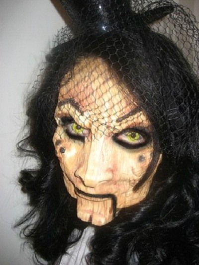 Amazing Wooden Doll Makeup