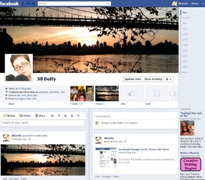 Facebook design changes over the years