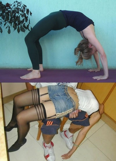 Yoga vs. drunk poses