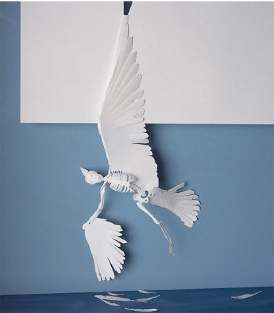 Papercut sculptures from single sheet of A4