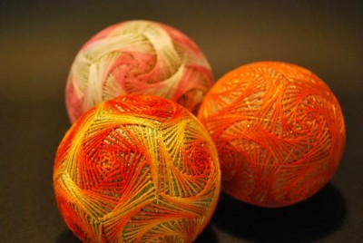 Creative Embroidered Temari Spheres by a 92-Year-Old Grandmother