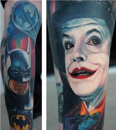 Batman 3D tattoos