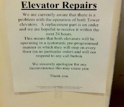 Absolutely Hilarious Elevator Notes