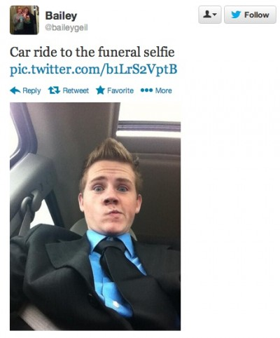 Worst funeral selfies ever