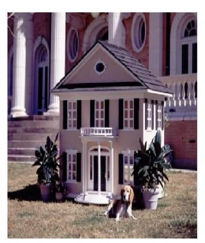 Southern plantation dog house
