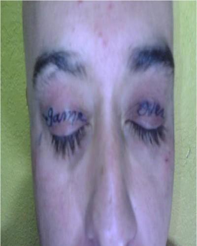 Weirdest eyelid tattoos