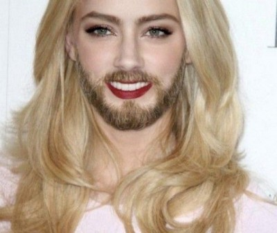 Funny female celebs with beards