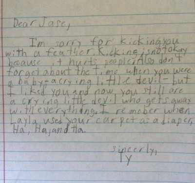 Hilarious and honest notes from kids