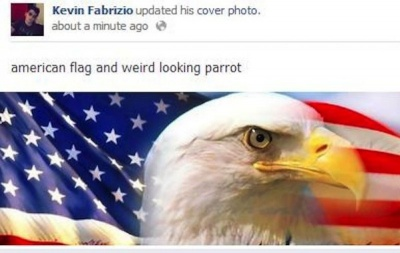 American Flag And Parrot!