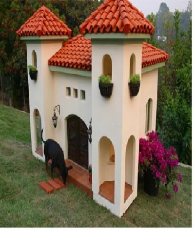 Spanish styled dog house