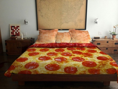 Pizza Bed Sheet
