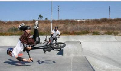 Bike stunts gone wrong
