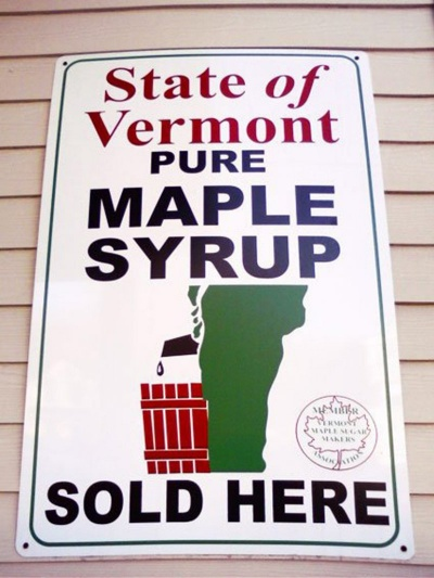 This State Of Vermont Pure Maple Syrup Logo