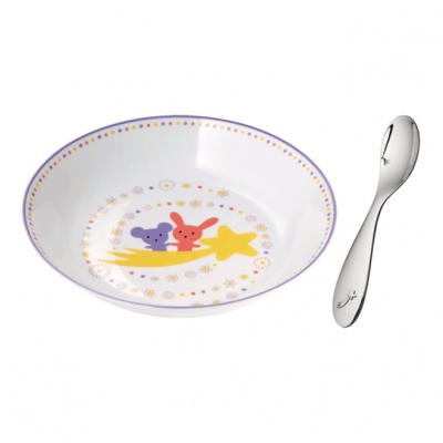 Christofle Cereal Bowl & Baby Spoon Set $215