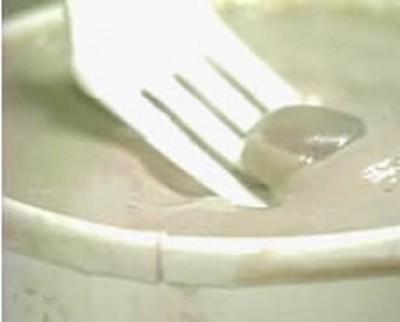 Human finger in frozen custard, Yikes!!