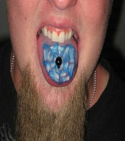 Weirdest tongue tattoos