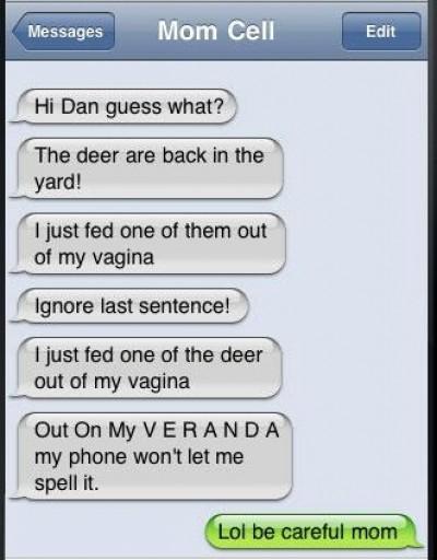 Iphone autocorrect being pervert?